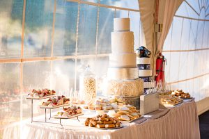 Polkadot Cake Sweets Table